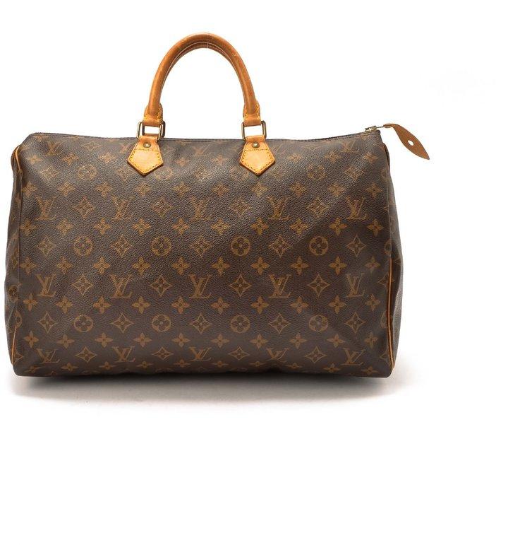 Louis Vuitton Pre-Owned: brown monogram canvas 'Speedy 40' bag