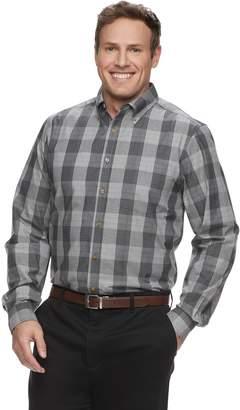 Haggar Big & Tall Weekender Classic-Fit Plaid Button-Down Shirt