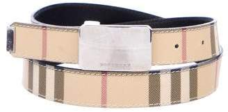 Burberry House Check Buckle Belt