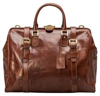 Maxwell Scott Bags Top Quality Italian Leather Travel Holdall In Tan