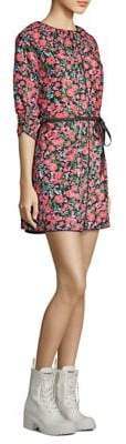 Marc Jacobs Floral Belted Mini Dress