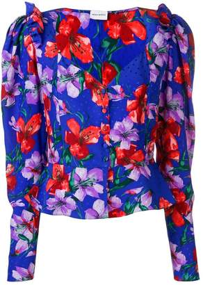 Magda Butrym printed peplum blouse