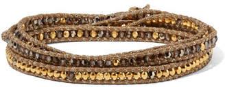 Chan Luu Gold-plated Crystal Wrap Bracelet