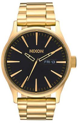 Nixon Analog Sentry SS Goldtone Watch