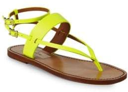 Valentino Classic Leather Ankle-Strap Sandals