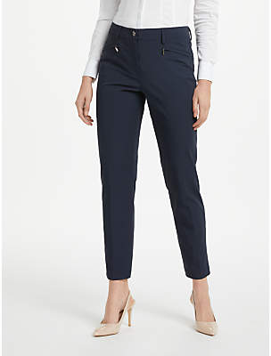 Gardeur Dina Slim Cropped Trousers, Navy