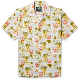Gitman Brothers Camp-Collar Floral-Print Matte-Satin Shirt