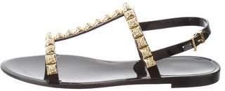 Stuart Weitzman Embellished Ankle Strap Sandals