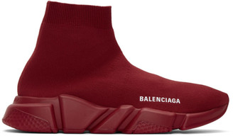 Balenciaga Red Speed Sneakers