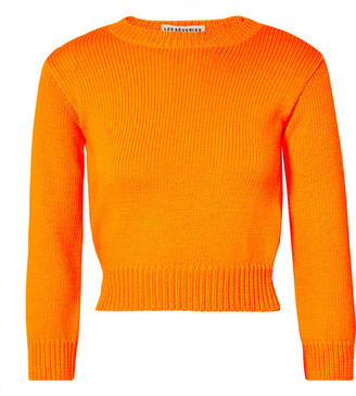 Les Rêveries Neon Open-back Knitted Sweater - Bright orange