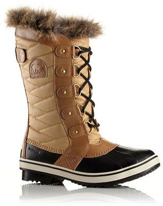 Sorel Tofino II Coated Canvas & Faux Fur Winter Boots $170 thestylecure.com