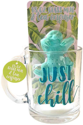 """Tmd Holdings """"Just chill"""" Sloth Tea Infuser with Glass Mug"""