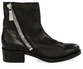Frye Women's Demi Asymmetric Zip Leather Booties - Black - Size 9