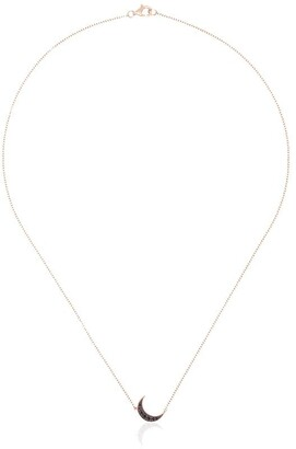 Andrea Fohrman mini crescent diamond necklace