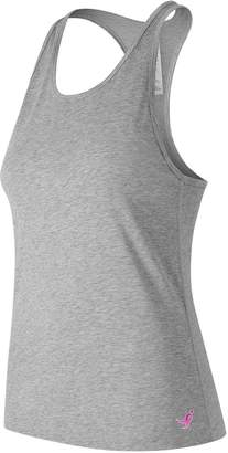 New Balance Women's Lace Up For The Cure Heather Tech Racerback Tank