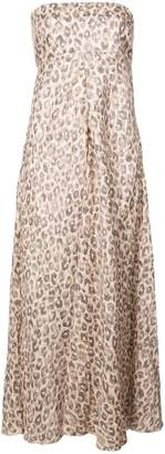Zimmermann Melody strapless leopard print dress