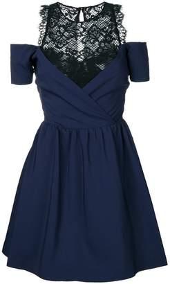 Pinko cold-shoulder flared dress