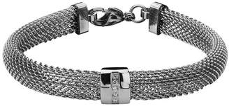 FINE JEWELRY Stainless Steel with Cubic Zirconia Mesh Bracelet