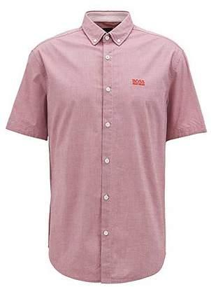 HUGO BOSS Regular-fit short-sleeved shirt with moisture management