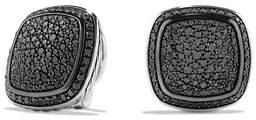 David Yurman Albion Earrings with Black Diamonds, 14mm