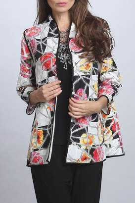 IC Collection Floral Patchwork Jacket $173 thestylecure.com