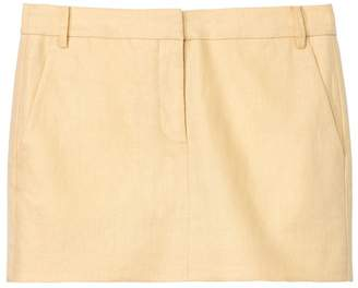 794ad5dd6 Tibi Linen Canvas Mini Trouser Skirt in Biscotti