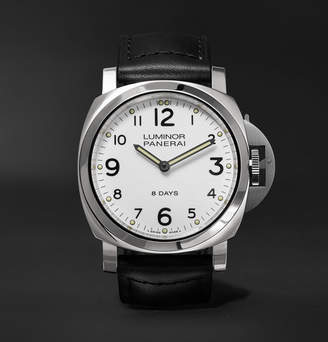 Panerai Officine Luminor Base 8 Days Acciaio 44mm Stainless Steel and Leather Watch