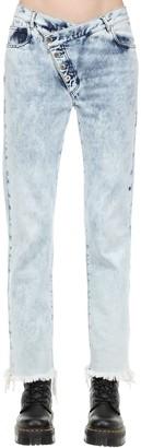 Marques Almeida Marques'almeida Cotton Denim Jeans W/ Overlapping Waist