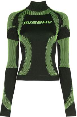 Misbhv high-neck sport knit top