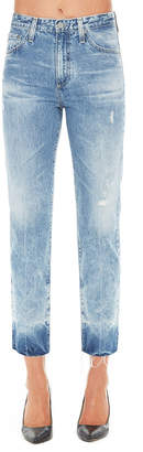 AG Jeans High-Waist Tapered Light-Wash Jeans