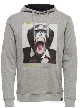 ONLY & SONS Photo-Print Long-Sleeve Hoodie