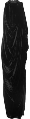 Rick Owens - Draped Velvet Gown - Black $2,430 thestylecure.com