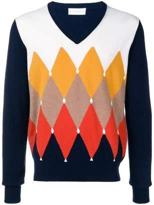 Ballantyne patterned V-neck sweater