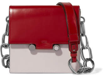 Marni Box Patent-leather Shoulder Bag - Red