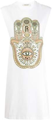 Roberto Cavalli Hamsa print dress
