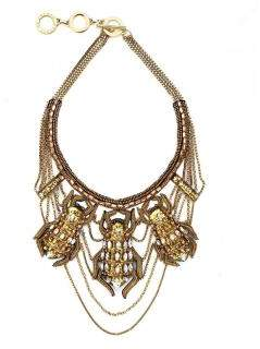 Forest of Chintz Scarab Oro Necklace