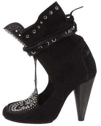 Isabel Marant Suede Studded Ankle Boots