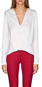 A.L.C. Women's Harmon Silk-Blend Satin Blouse - White