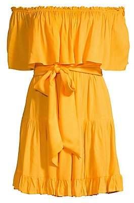 Cool Change coolchange Women's Lena Off-The-Shoulder Ruffle Dress