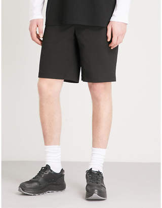 Givenchy Leather badge cotton-blend shorts