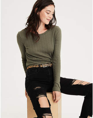 American Eagle AE Long Sleeve Layering T-Shirt