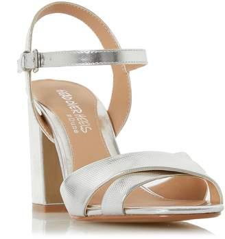 Head Over Heels Missty Block Heel Cross Strap Sandals