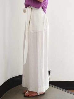 Ungrid (アングリッド) - リネン混ウエストリボンマキシスカート