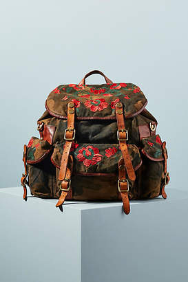 Campomaggi Embroidered Camo Backpack