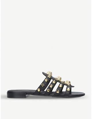 Balenciaga Ladies Black Studded Gwen Leather Sandals
