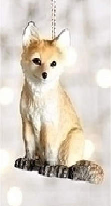 Asstd National Brand 3.25 Wild Baby Orange and Brown Fox Decorative Christmas Ornament