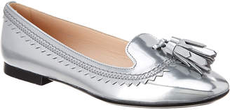 Tod's TodS Metallic Leather Tassel Moccasin