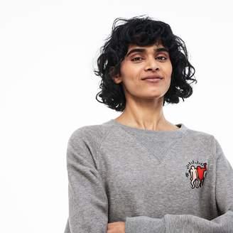 Lacoste Women's Keith Haring Design Cotton Blend Sweatshirt