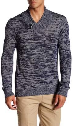 Quinn Marl Knit Shawl Collar Pullover $159 thestylecure.com