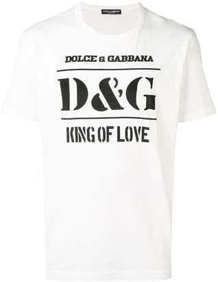 Dolce & Gabbana 'King of Love' T-shirt